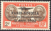 New Caledonia 1933 Definitives of 1928 Overprinted v