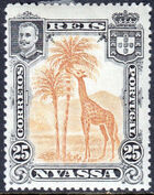 Nyassa Company 1901 D. Carlos I (Giraffe and Camels) f