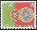 Vatican City 2004 Flags and One-Euro Coins m