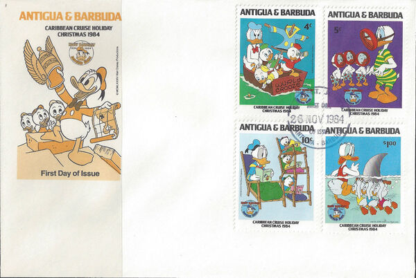 Antigua and Barbuda 1984 Disney - Christmas - 50th Anniversary of the Birth of Donald Duck o