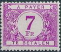 Belgium 1946 Postage Due Stamps (Digit on White Background) b.jpg
