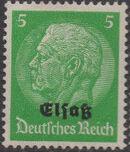German Occupation-Alsace 1940 Stamps of Germany (1933-1936) Overprinted in Black c