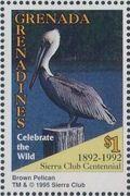 Grenada Grenadines 1995 100th Anniversary of Sierra Club - Endangered Species k