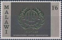 Malawi 1969 50th Anniversary of International Labour Organization c
