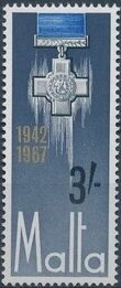 Malta 1967 25th Anniversary Of The George Cross Award c