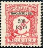 Mozambique 1916 Postage Stamps from 1904 Overprinted REPUBLICA i