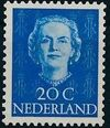 Netherlands 1949 Queen Juliana - En Face (1st Group) f