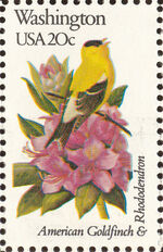United States of America 1982 State birds and flowers zs