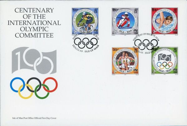Isle of Man 1994 Centenary of the International Olympic Committee h