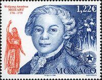 Monaco 2006 250th Anniversary of the birth of W.A. Mozart a