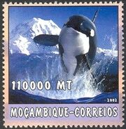 Mozambique 2002 The World of the Sea - Whales 1 g