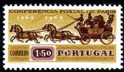 Portugal 1963 100th Anniversary of the 1st International Mail Conference b