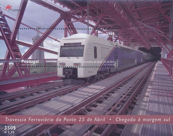 Portugal 1999 Inauguration of Rail Link Over 25th of April Bridge h