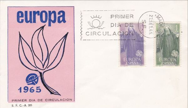 Spain 1965 Europa FDCa
