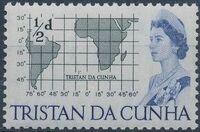 Tristan da Cunha 1965 Queen Elizabeth II and Ships a