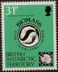 British Antarctic Territory 1991 30th Anniversary Antarctic Treaty c