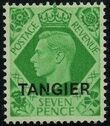 "British Offices in Tangier 1949 King George VI Overprinted ""TANGIER"" g"