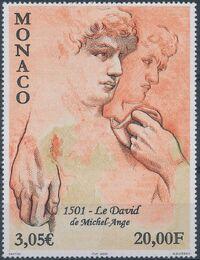 Monaco 2001 500th Anniversary of Statue of David by Michelangelo a