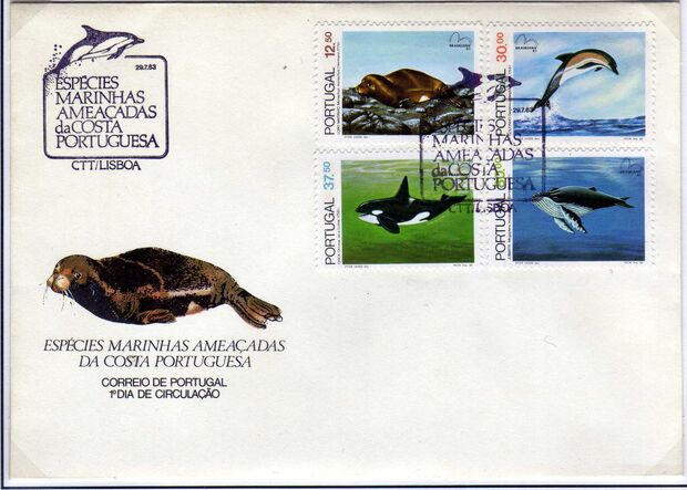 Portugal 1983 Brasiliana 83 - International Stamp Exhibition - Marine Mammals f