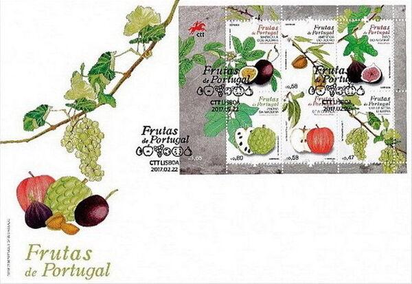 Portugal 2017 Fruits of Portugal II FDCb