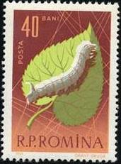 Romania 1963 Bees & Silk Worms c