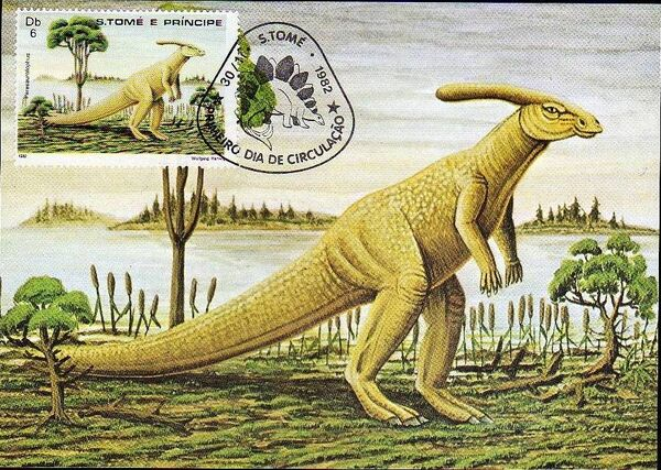 St Thomas and Prince 1982 Dinosaurs h