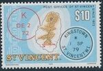 St Vincent 1979 Cancellations and Location of Village t