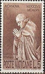 Vatican City 1958 Bicentenary of the Birth of Antonio Canova a