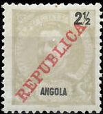 Angola 1911 D. Carlos I Overprinted a