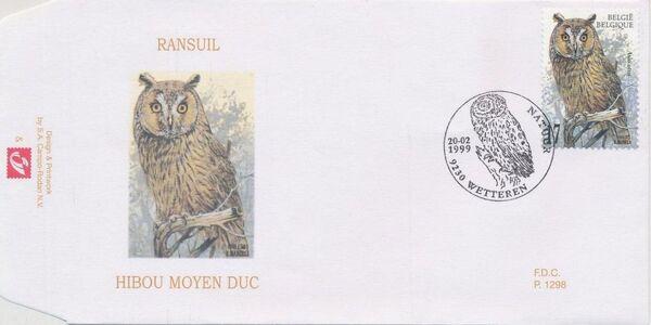 Belgium 1999 Owls FDCd