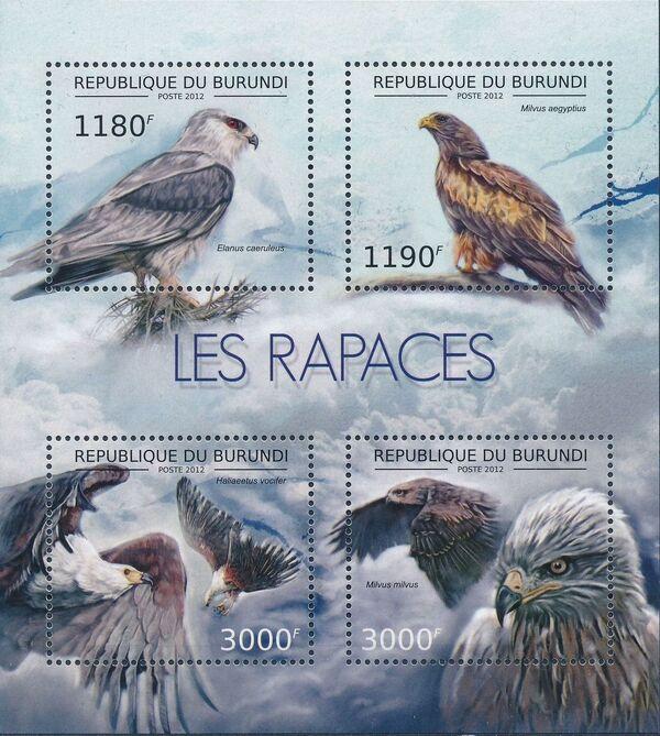 Burundi 2012 Birds of prey c
