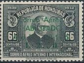 Honduras 1945 Air Post Stamps of 1937-1939 Surcharged i