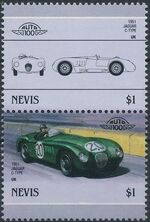 Nevis 1986 Leaders of the World - Auto 100 (5nd Group) d