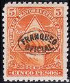 Nicaragua 1898 Official Stamps Overprinted in Blue ka.jpg