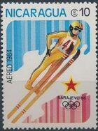 Nicaragua 1984 Winter Olympics - Sarajevo' 84 (Air Post Stamps) c