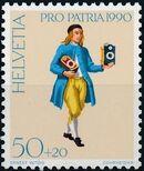 Switzerland 1990 PRO PATRIA - Street criers b