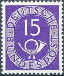 Germany, Federal Republic 1951 Posthorn and Numbers g