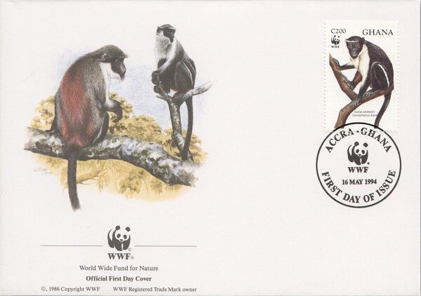Ghana 1994 WWF - Diana Monkeys l