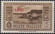 Italy (Aegean Islands)-Lipso 1932 50th Anniversary of the Death of Giuseppe Garibaldi h