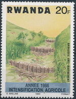 Rwanda 1986 Soil Erosion Prevention (Surcharged and Overprinted) e