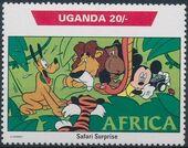Uganda 1992 Walt Disney Characters on World Tour a
