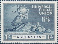 Ascension 1949 75th Anniversary of Universal Postal Union UPU d