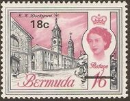 Bermuda 1970 Definitive Issue of 1962 Surcharged k