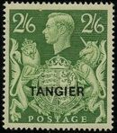 "British Offices in Tangier 1949 King George VI Overprinted ""TANGIER"" m"