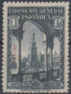 Tangier-Spain 1929 Seville-Barcelona Issue of Spain Overprinted in Blue or Red i