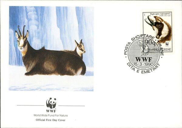 Albania 1990 WWF - Chamois FDCd
