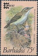 Barbados 1987 CAPEX'87 - Birds d