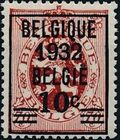 Belgium 1932 Heraldic Lion (Surcharged 1932) a