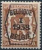 Belgium 1938 Coat of Arms - Precancel (1st Group) d