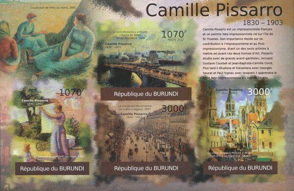 Burundi 2012 Paintings by Camille Pissaro l
